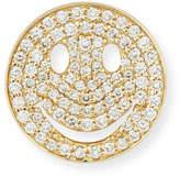 Sydney Evan Large Pavé Diamond Happy Face Stud Earring