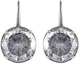 Bottega Veneta Cubic zirconia and oxidised-silver drop earrings