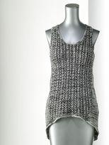 Vera Wang Simply vera melange drop-tail hem sweater