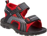 Rugged Bear Boys' Sandals Black - Red & Black Front-Strap Sandal - Boys