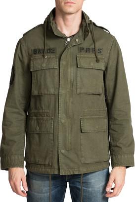 PRPS Men's Hooded Four-Pocket Military Jacket