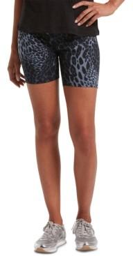 Hue Women's Leopard-Print Bike Shorts