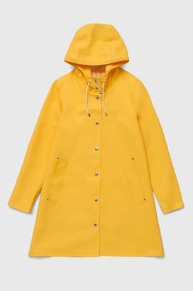 Stutterheim Mosebacke Yellow Womens Raincoat - xxxs
