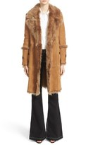 Burberry Women's 'Northcole' Genuine Shearling Coat