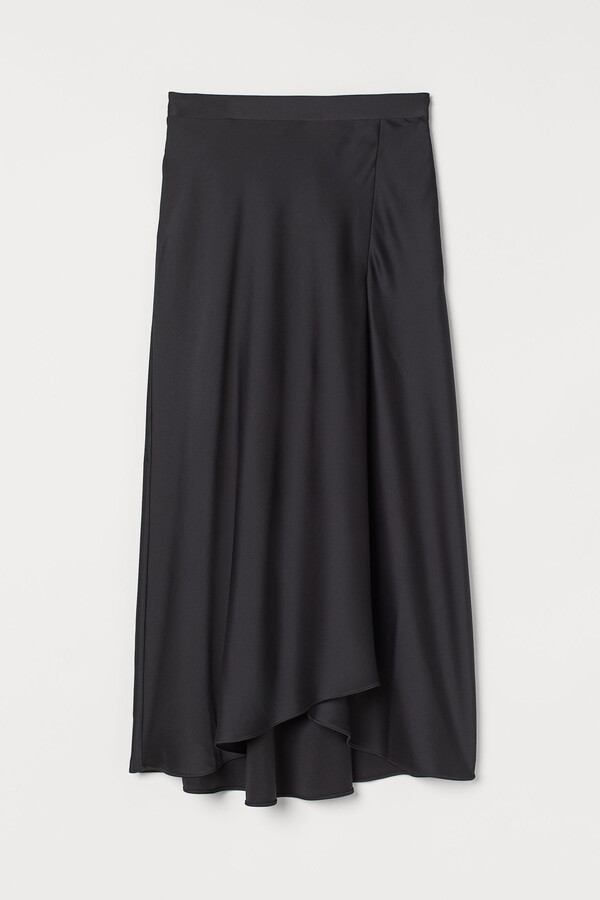 Thumbnail for your product : H&M Calf-length satin skirt