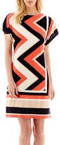 Studio 1 Zigzag Print Shift Dress