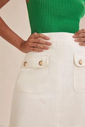 Country Road Linen Twill Mini Skirt