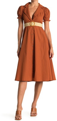 WeWoreWhat Bella Puff Sleeve Belted Dress