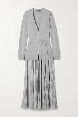 Altuzarra Manuel Belted Knitted Midi Dress - Light gray