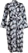 Cyberjammies Monochrome Elegance Mix Cotton Floral Print Robe 3054