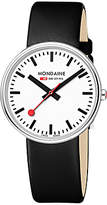 Mondaine Unisex Mini Giant Leather Strap Watch