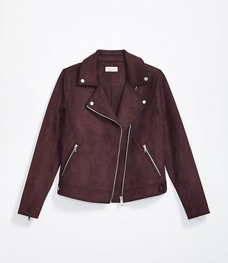 LOFT Tall Faux Suede Moto Jacket