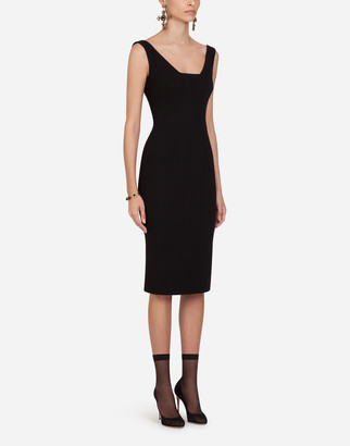 Dolce & Gabbana Wool Crepe Midi Dress
