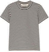 Junya Watanabe Striped Cotton-jersey T-shirt - Black