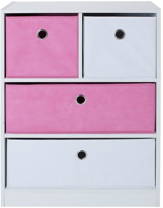 Lloyd Pascal Cube 2+2 Storage Unit Pink/White