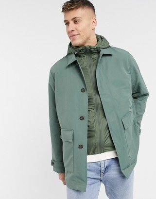 Lacoste hooded parka jacket
