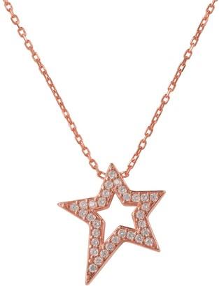 Latelita Open Star Pendant Necklace Rosegold