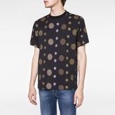 Paul Smith Men's Black Large-Dot Print T-Shirt