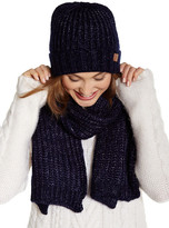 David & Young Ribbed Beanie & Scarf Set