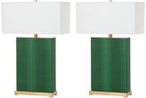 Safavieh Dark Green Joella Faux Snakeskin Table Lamp - Set of Two