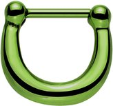 """Body Candy IP Stainless Steel Bold Septum Clicker 16 Gauge 5/16"""""""
