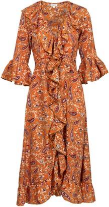 Felicity Dress- Ochre Paisley