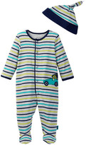 Offspring Race Cars Footie & Hat (Baby Boys)