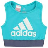 adidas Kids Girls Bra Top Junior Sports Crew Neck Racer Back ClimaLite