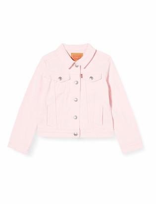 Levi's Kids Lvg Hooded Trucker Jacket Denim Vest Girls Rose Shadow 3 Years
