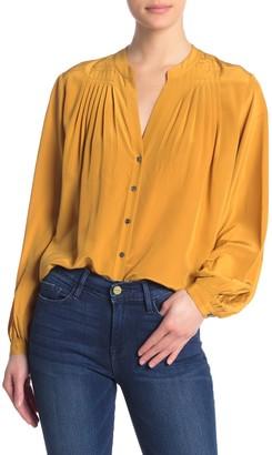 Frame Pleated Silk Blouse