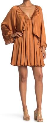 One One Six Shirred Mini Dress