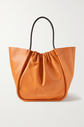 Proenza Schouler Xl Ruched Two-tone Leather Tote - Orange