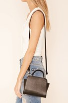 Forever 21 FOREVER 21+ Faux Leather Trapeze Satchel
