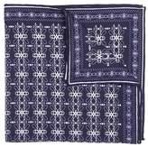 hook + ALBERT Men's Filigreed Silk Pocket Square