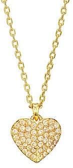 Kate Spade Women's Mini Heart 12K Yellow Goldplated & Cubic Zirconia Heart Pendant Necklace