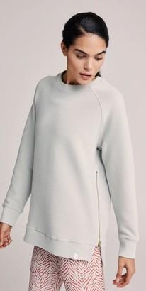 Varley Grey Mint Manning Ribbed Sweatshirt - XS