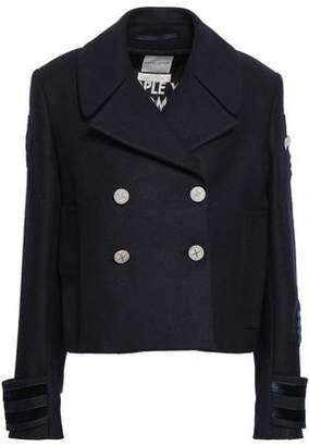 Each X Other Appliqued Double-breasted Wool-felt Jacket