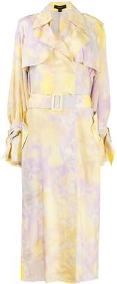 Ellery Tie Dye Trench Coat