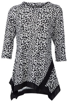 Dorothy Perkins Womens Izabel London Grey Animal Print Top, Grey