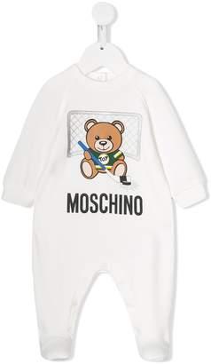 Moschino Kids teddy logo pajamas