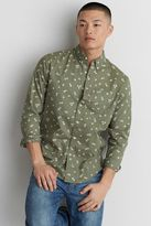 American Eagle Outfitters AE Classic Print Poplin Shirt