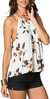 O'Neill Olympia High Neck Floral-Printed Swing Tank Top