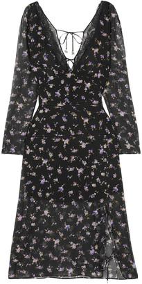 Altuzarra Rosmarino Lace-trimmed Floral-print Silk-chiffon Dress