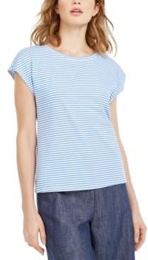 Max Mara Striped Cap-Sleeve T-Shirt
