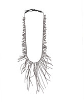 Brunello Cucinelli Ematite Long Branch Necklace