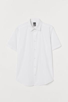 H&M Slim Fit Shirt - White
