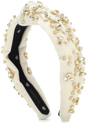 Lele Sadoughi Exclusive to Mytheresa a Crystal-embellished velvet headband