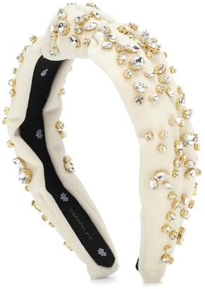 Lele Sadoughi Exclusive to Mytheresa Crystal-embellished velvet headband