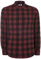 Topman Red Buffalo Check Shirt
