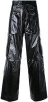 Misbhv - cargo flared trousers - women - Cotton/Polyurethane - XS